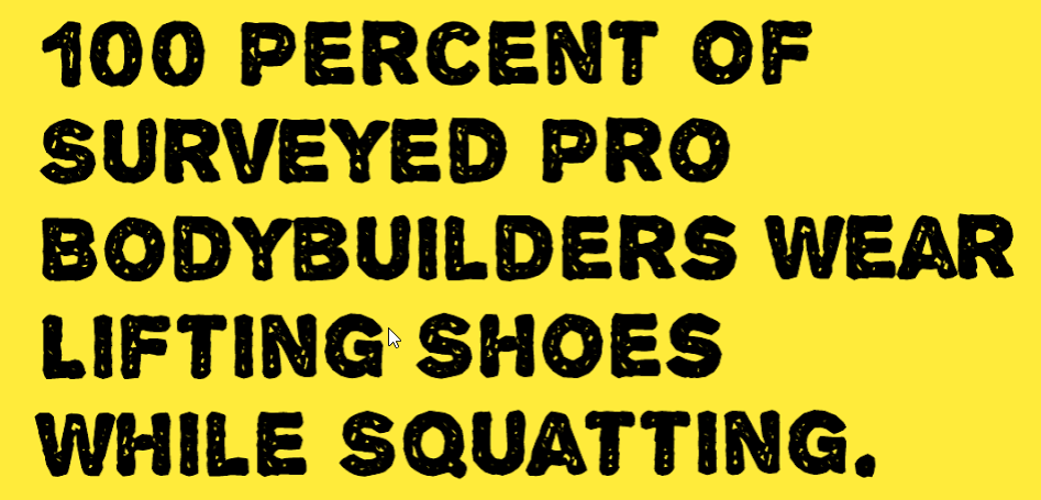 Squatting Barefoot VS Lifting Shoes Survey Infographic