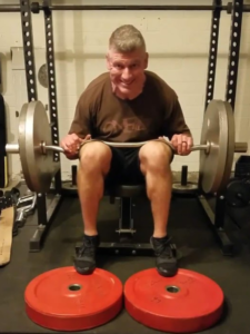 image showing how to perform seated calf raise at home